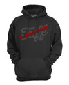 TUFF Script Red Line Hooded Sweatshirt TuffWraps.com