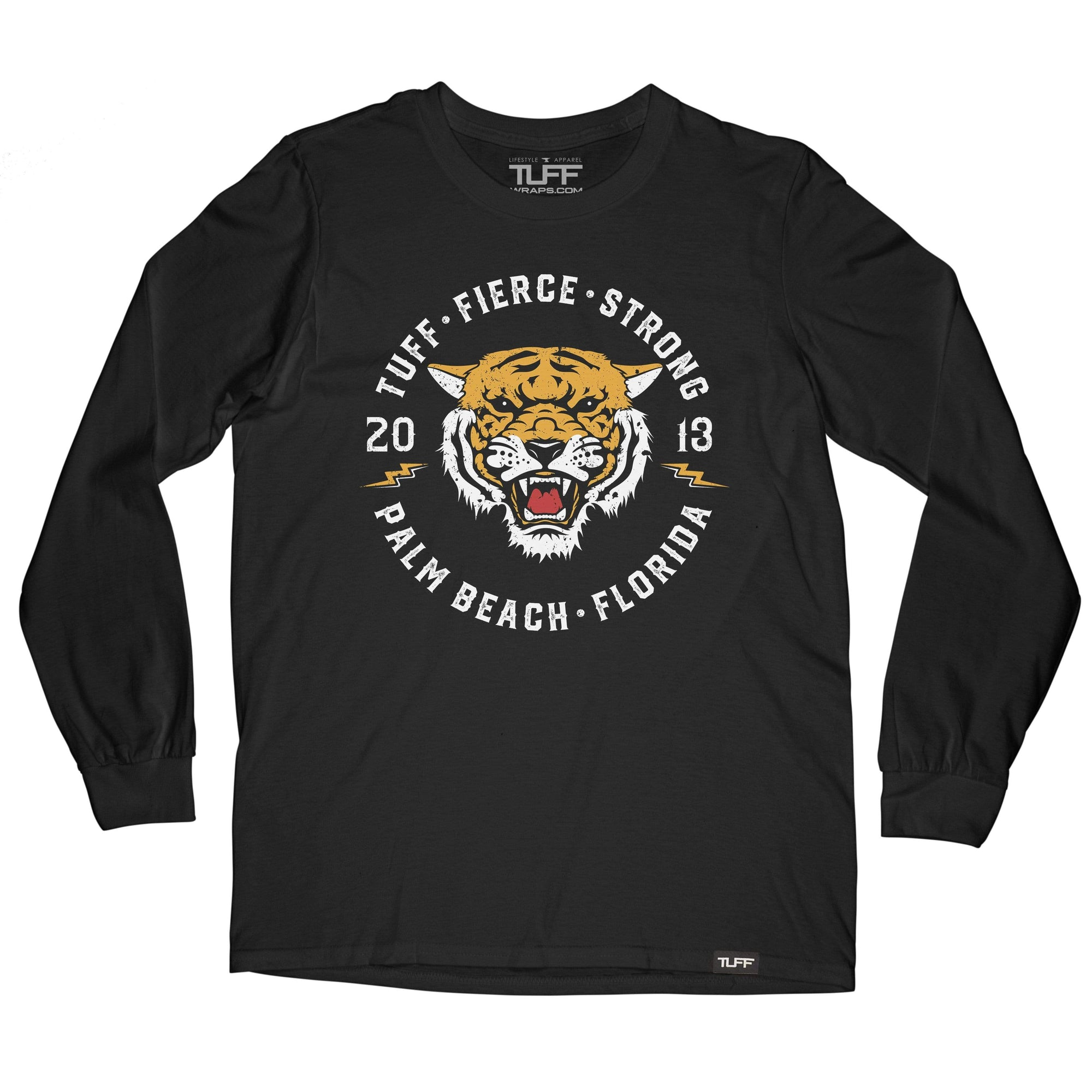 TUFF Tiger Long Sleeve Tee S / Black TuffWraps.com