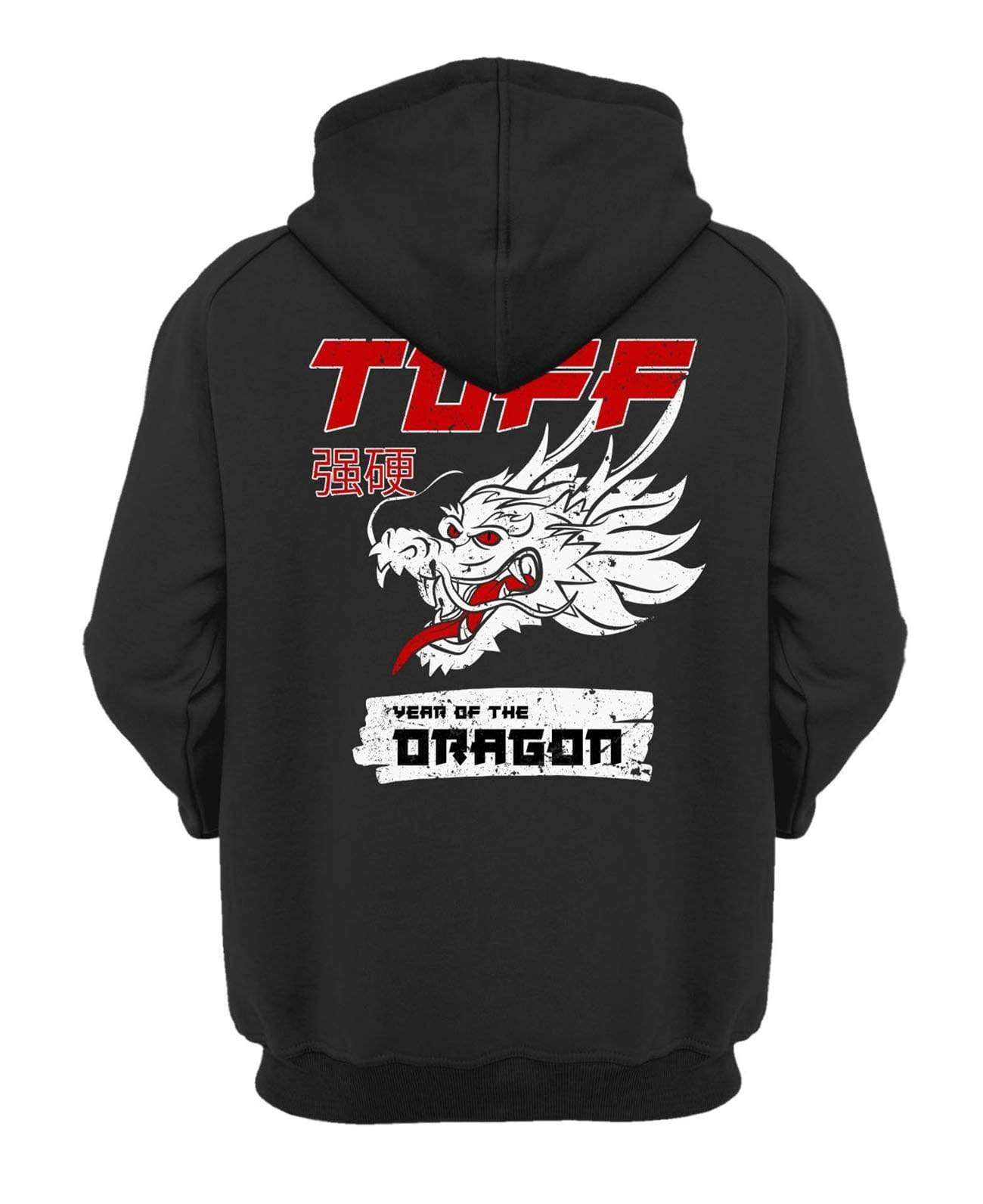 Year of the Dragon Hooded Sweatshirt XS / Black TuffWraps.com