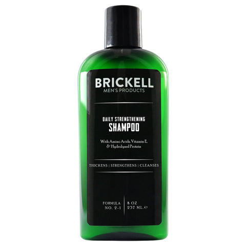 Brickell Men's Products Daily Strengthening Shampoo | Apothecarie New York