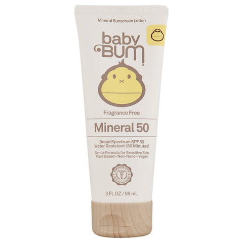 Sun Bum Baby Bum SPF 50 Mineral Sunscreen Lotion Fragrance Free | Apothecarie New York