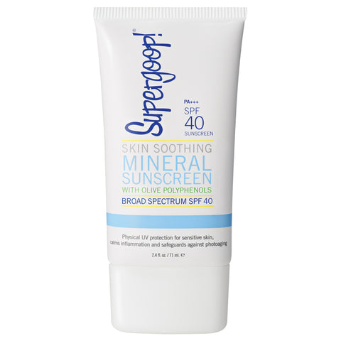 Supergoop Skin Soothing Mineral Sunscreen with Olive Polyphenols SPF 40 | Apothecarie New York