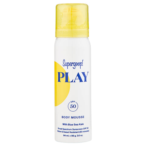 Supergoop Play Body Mousse SPF 50 with Blue Sea Kale | Apothecarie New York