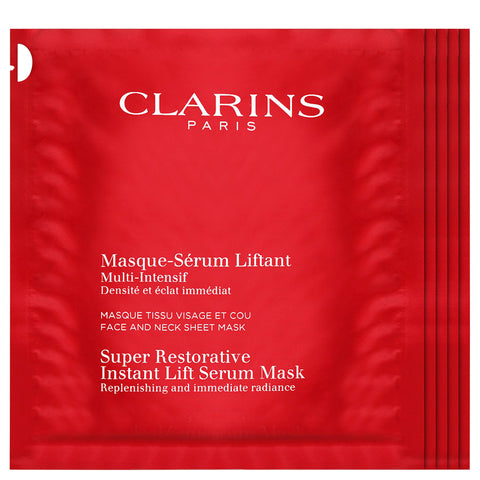 Clarins Super Restorative Instant Lift Serum Sheet Mask | Apothecarie New York