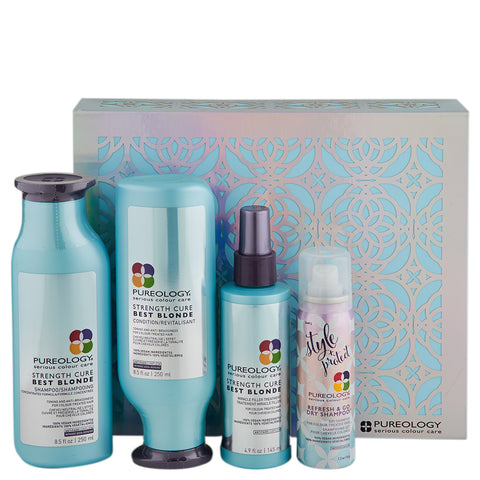 Pureology Strength Cure Best Blonde Holiday Gift Set | Apothecarie New York