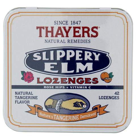 Thayer's Tangerine with Rose Hips Slippery Elm Lozenges | Apothecarie New York