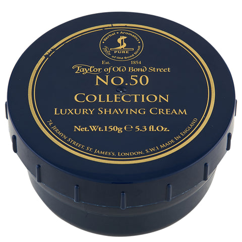 Taylor of Old Bond Street No. 50 Collection Shaving Cream | Apothecarie New York