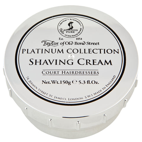 Taylor of Old Bond Street Platinum Collection Shaving Cream | Apothecarie New York