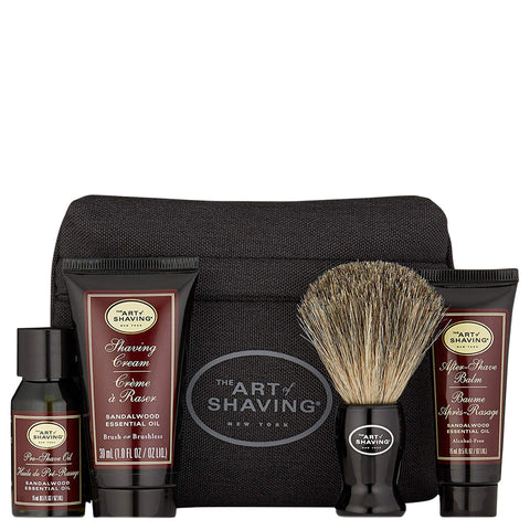 The Art of Shaving Starter Kit with Bag Sandalwood | Apothecarie New York