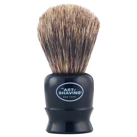 The Art of Shaving Travel Brush Pure Black | Apothecarie New York
