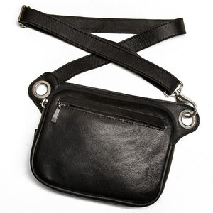 FELIX Fanny Pack / Crossbody Convertible Bag - Black-Rimanchik