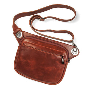 FELIX Fanny Pack / Crossbody Convertible Bag - Red-Rimanchik