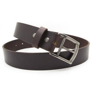 ROY Men's Leather Belt – Dark Brown-Rimanchik