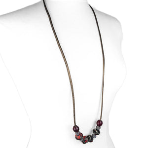 LOTUS Long Necklace - Multiple Colour Options-Rimanchik