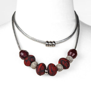 LOTUS Double Strand Necklace - Multiple Colour Options-Rimanchik