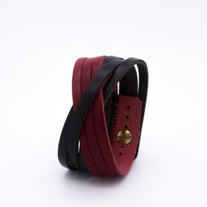ORLEANS Cuff - Black and Red-Rimanchik