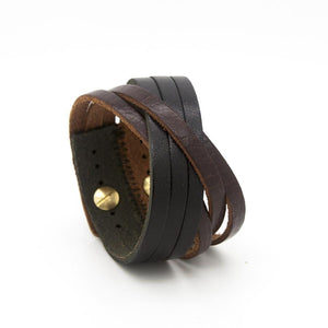 ORLEANS Cuff - Chocolate Brown and Black - Rimanchik - 1