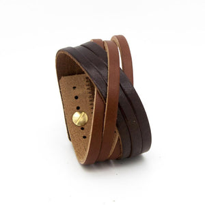 ORLEANS Cuff - Chocolate Brown and Tan-Rimanchik