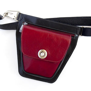 ROVER Leather Fanny Pack – Deep Red-Rimanchik