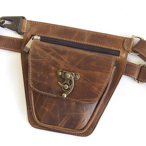 ROVER Leather Fanny Pack – Tan Brown-Rimanchik