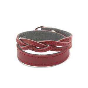 Braided TWIST Cuff – Red-Rimanchik