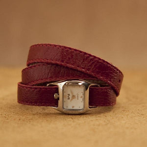 TWIST Wrap Watch – Burgundy-Rimanchik
