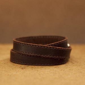 TWIST Wrap Cuff – Chocolate Brown-Rimanchik