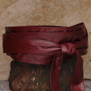 SASH-A Wrap Belt – Oxblood Red-Rimanchik