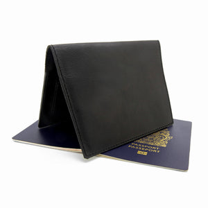 JETSETTER Leather Passport Holder - Black-Rimanchik