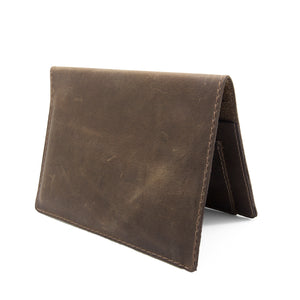 JETSETTER Leather Passport Holder - Rugged Brown-Rimanchik