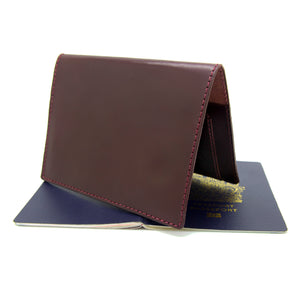 JETSETTER Leather Passport Holder - Burgundy-Rimanchik