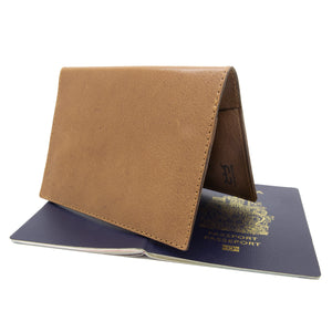 JETSETTER Leather Passport Holder - Tan-Rimanchik
