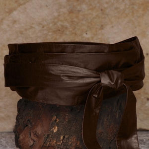 SASH-A Wrap Belt – Chocolate Brown-Rimanchik