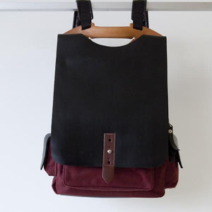 TUCKER Backpack – Burgundy-Rimanchik