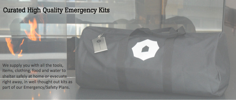 Family Emergency Kit - Black Umbrella
