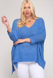 Plus Folded cuff sweater