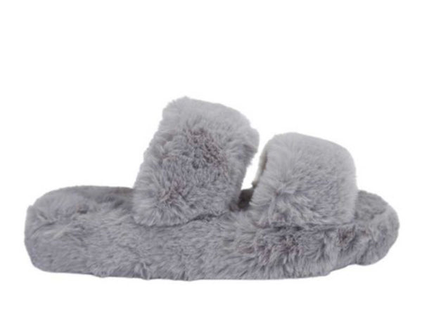 Corset Slipper Grey & Taupe
