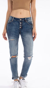 Kancan Button fly jean
