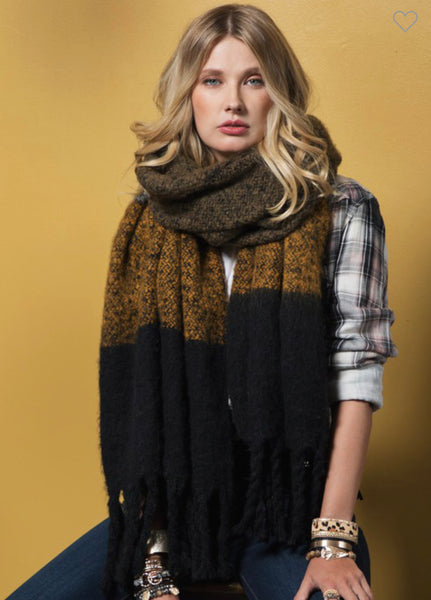 Wide Stripe Scarf