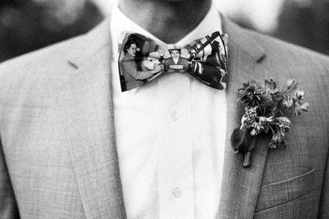 Man wearing Black History bowtie