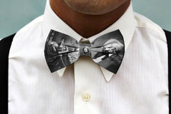 Man wearing Frederick Douglass Black History Bowtie
