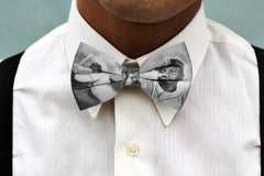 Man wearing Jackie Robinson Black History Bowtie
