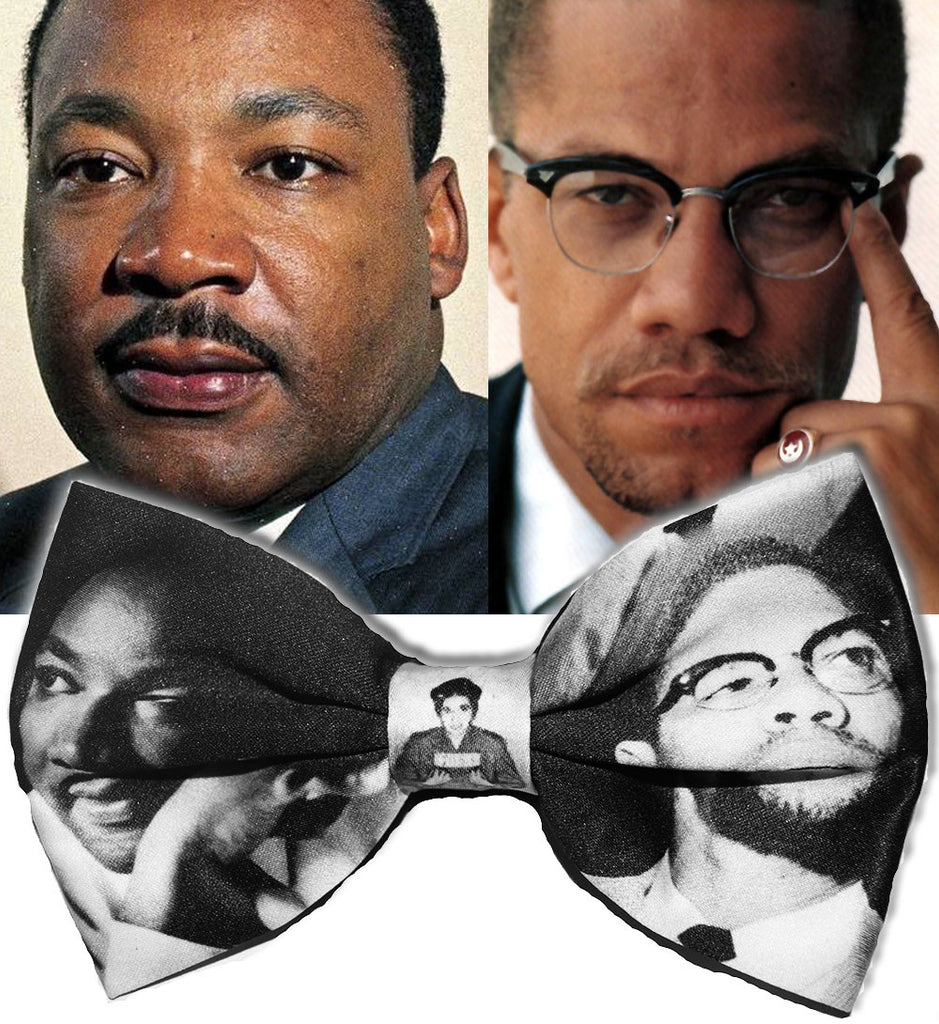 Martin Luther King/ Malcolm X Black History Bowtie (Limited Collector's Edition)