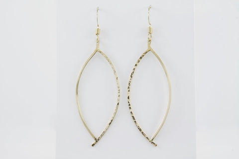 Marquis Leaf Earrings - 14k Gold Fill