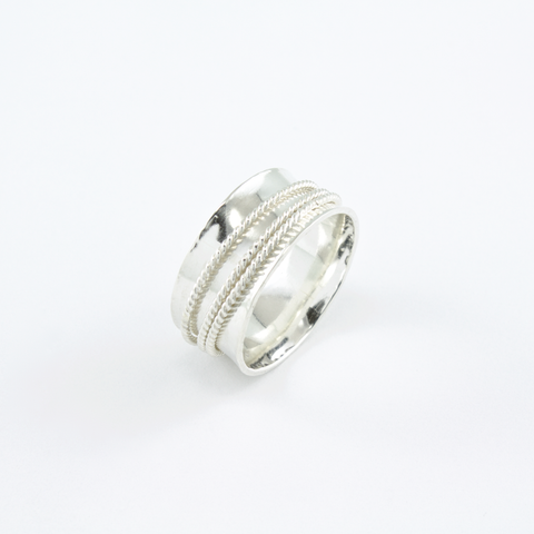 """Triple Twist"" - Spinner Ring"