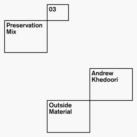 Preservation Mix 03 - Andrew Khedoori: Outside Material