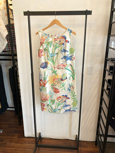 Shift Dress in Fish Print