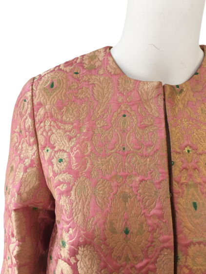 Darcy Brocade Jacket in Blush