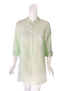 Anne Top in Mojito Linen