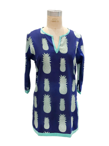 Isabelle Top in Pineapple Print Cotton